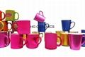 metalic color mugs,matte finished