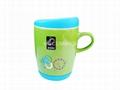 coffee mug with silicone lid and bottom