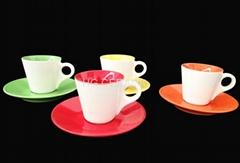Expresso coffee mug with saucer
