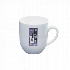 snow white porcelain mug