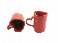 Red Heart Shape Mug