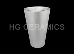 Sublimation pearl silver pint glass