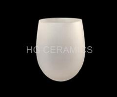 400ml  Egg Shape  Sublimation frosted glass mug