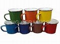 colorful enamel mug