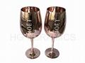 Si  er  Color  Wine Glass