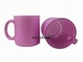 Purple Shining Powder Glass Mug