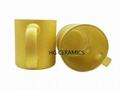 Gold   Shining Powder Glass Mug