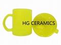 Fluorescence Yellow color glass mug