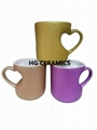 Gold Shining Powder Heart Shape Mug