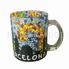 Mosaic printing glass mug