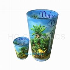 Doubal Side  Decal pint glass