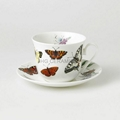 breakfast cup and saucer, bone china  1