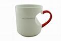 Sublimation Red heart  handle mug