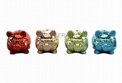 Pig coin bank  ,  Metallic