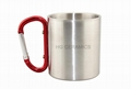 300ml  Stainless steel   cup with Carbiner handle