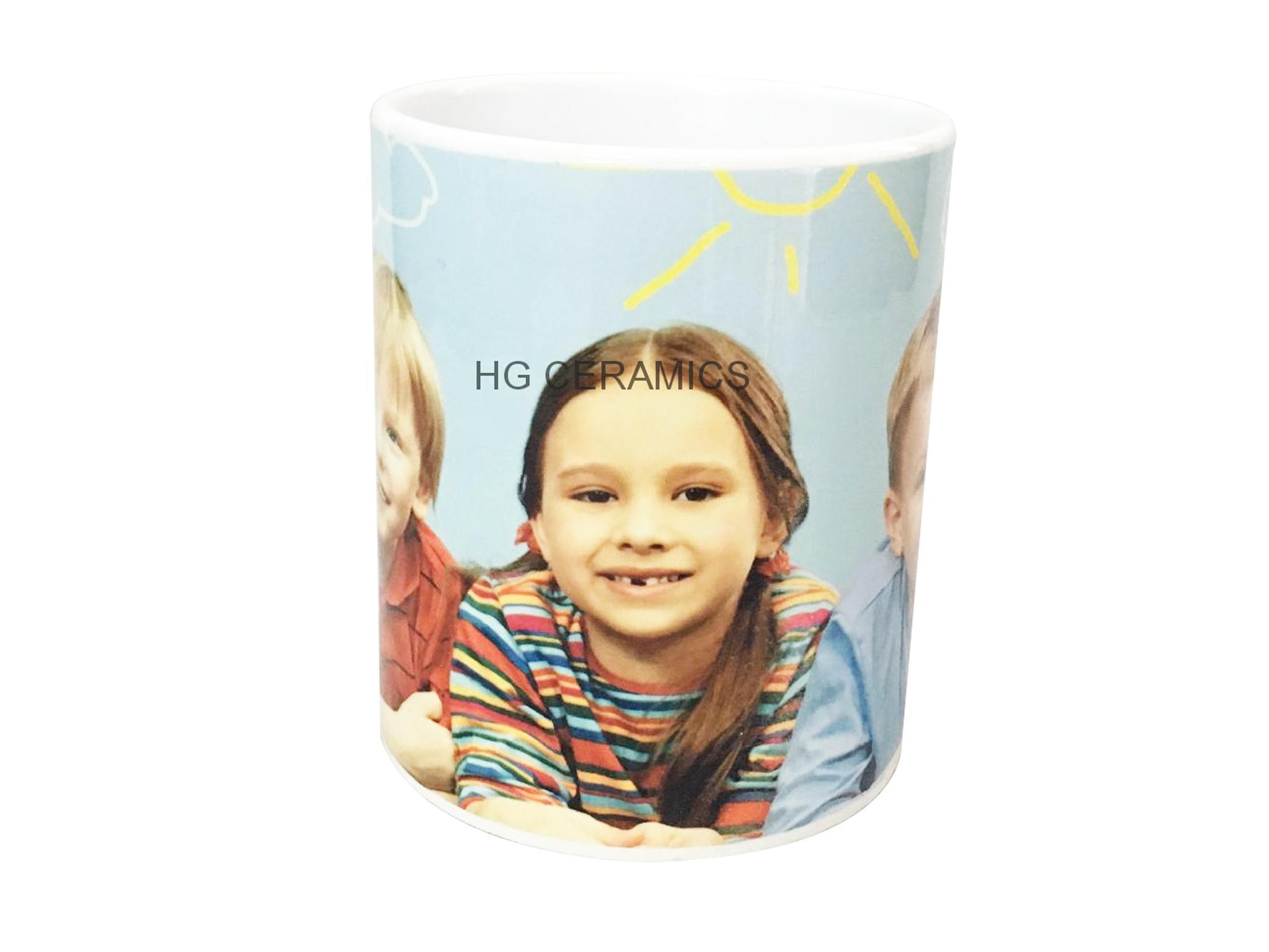 11oz Sublimation white mug with gold /si  er handle  3