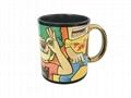 11oz Sublimation black mug with white