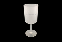 Wine Glass, Glass Goblet, 275ml  with outside forsted sublimation coating