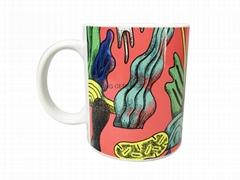 11oz Sublimation mug with inside decal printing