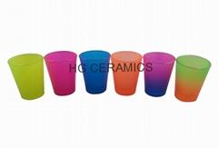 Spray color  shot  glass mug