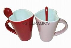 Heart shape spoon mug