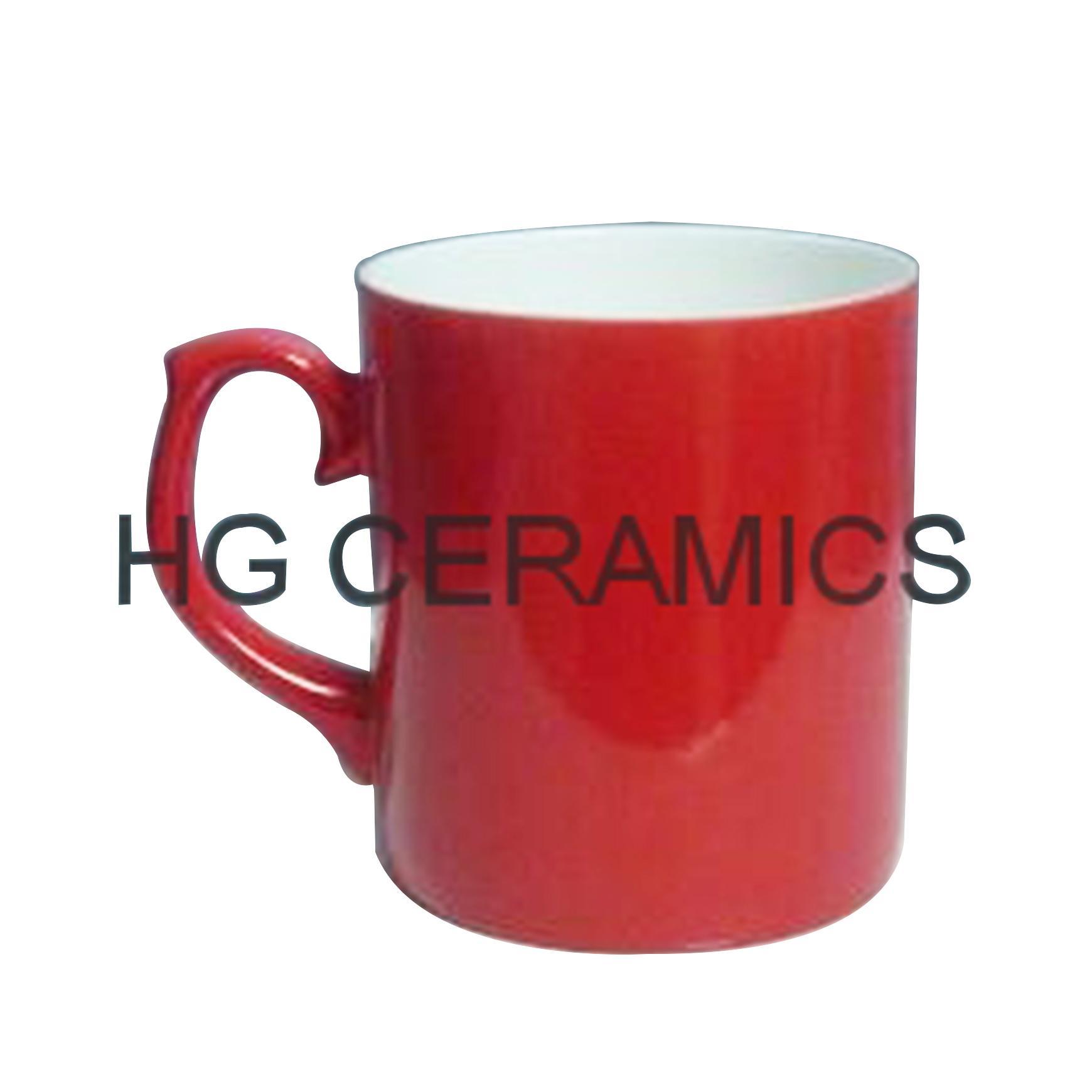 Red color change bone china mug ,Glossy finished  1