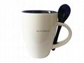 11oz  double color  spoon mug