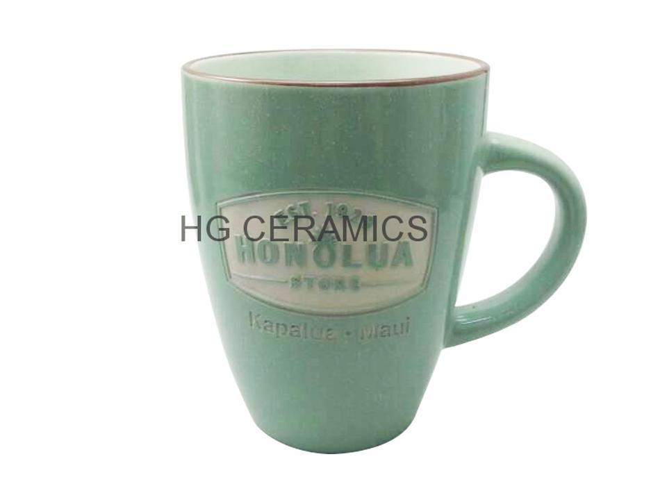 Black  Speckled glaze mug with laser logo   1