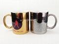 Sublimation gold mug , si  er mug