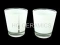 sublimation glass mug with white panel