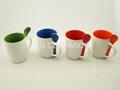 Ceramic mug with spoon  1