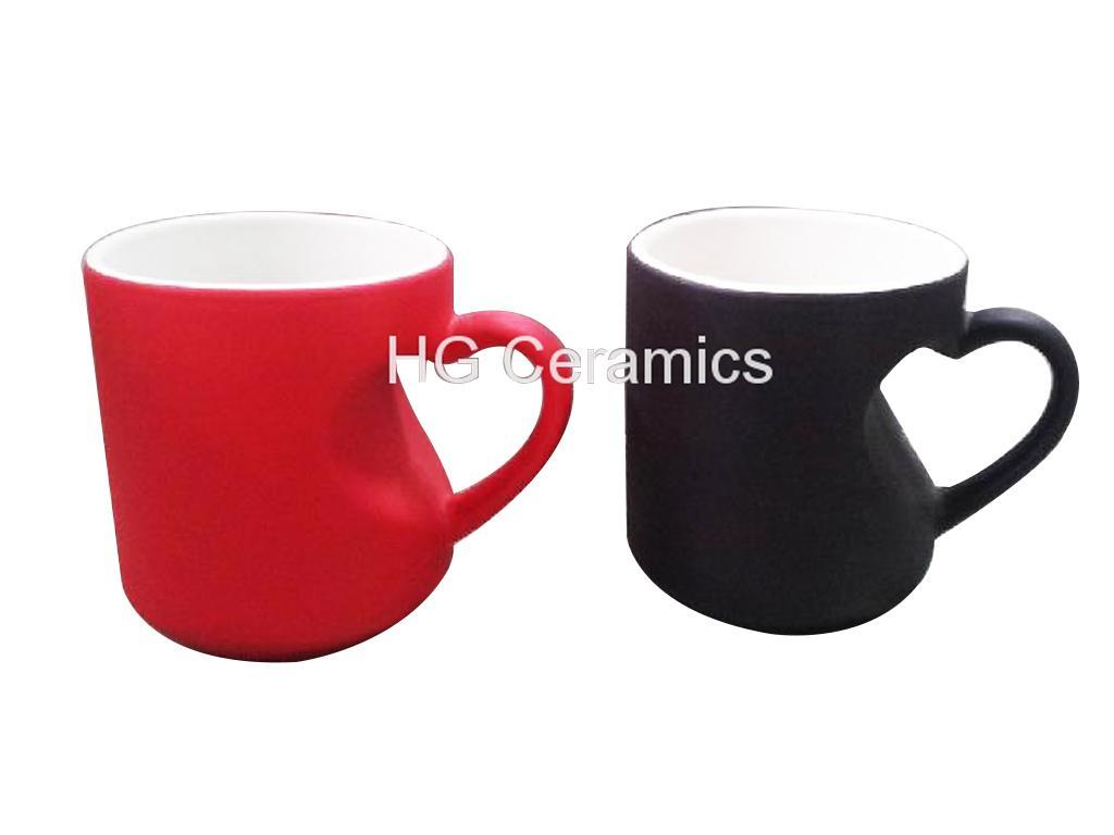 Heart shape color change mug  2