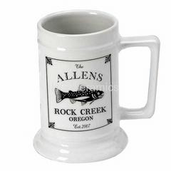 Ceramic beer stein,16oz