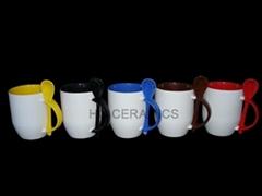 mug with spoon, spoon mug