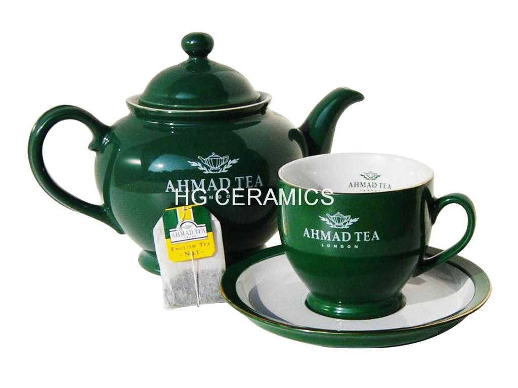 Ceramic teapot , suger, creamer, cup&saucer set 1