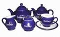Ceramic teapot , suger, creamer, cup&saucer set 2