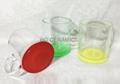 11oz C handle glass mug with color