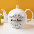 round ball teapot ,  fine bone china