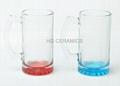 16oz Sublimation glass mug with color