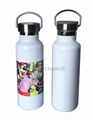Sublimation SS  bottle with bamboo lid