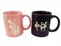 11oz color  mug with laser logo