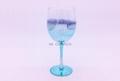 Chromed  Wine Glass ,Blue