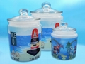 Glass canister , sublimation