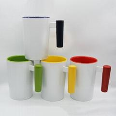 12oz Wood handle mug