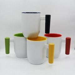 12oz U shape  Wood handle mug