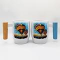 12oz sublimation mug with bamboo wood