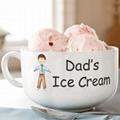 Ice cream bowl with handle