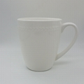 400ml bone china mug with embossed dots