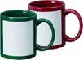 White patch sublimation mug