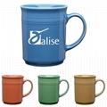 14oz ceramic mug with lines